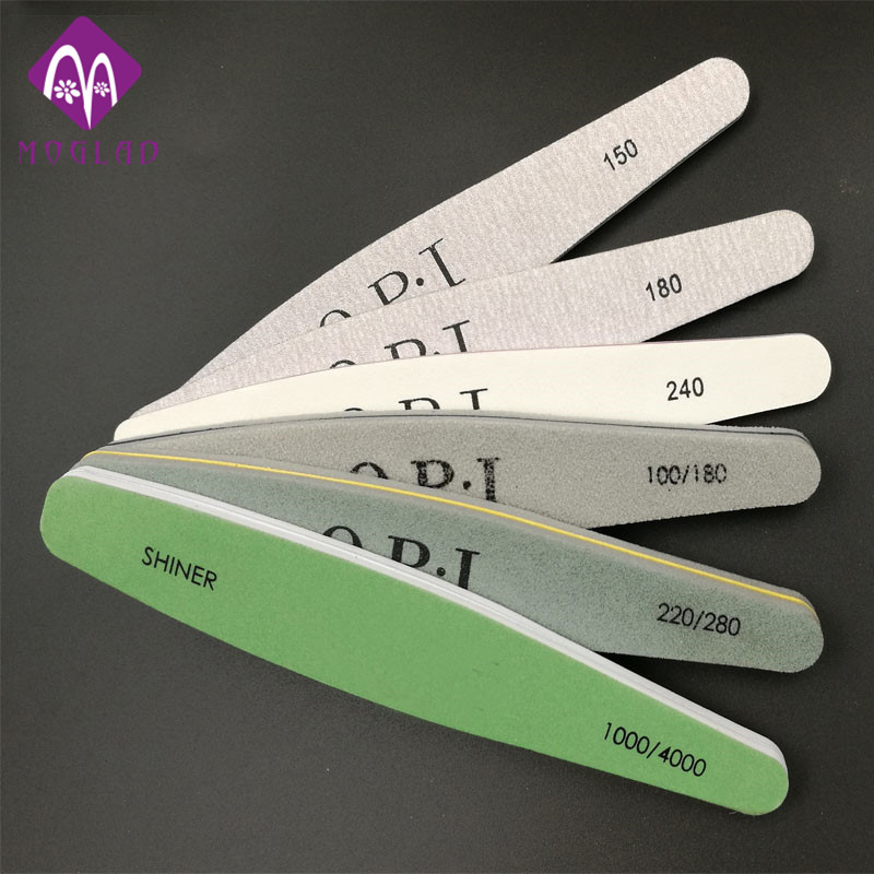 High quality nail file set New 6pcs pack nail art file nail buffer sandpaper slim kit