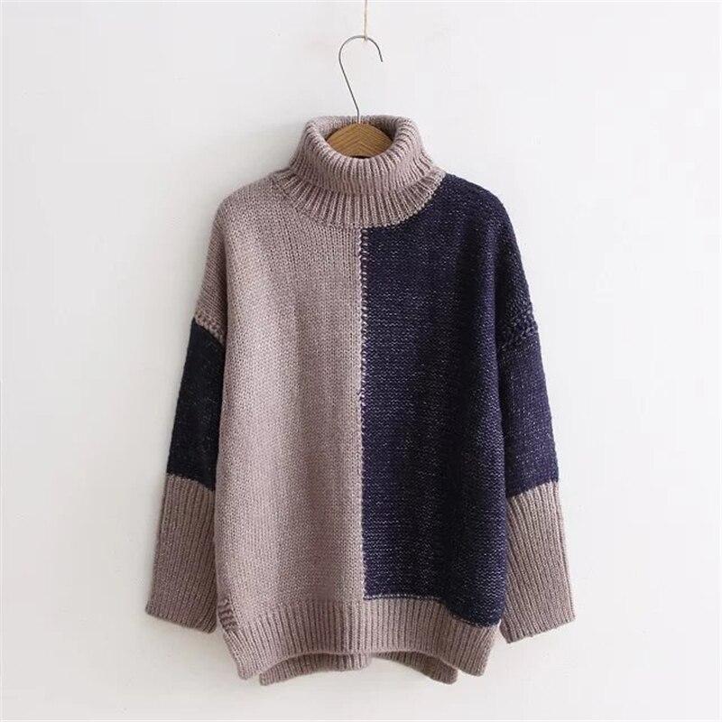 Johnature Women Japan Style Sweaters Turtleneck Sweet 2017 Spring New Knitted Long Sleeve Harajuku Mori Girl