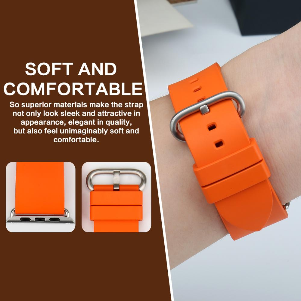 Pasek do zegarka MAIKES Sport Watchband Akcesoria do zegarków Apple - Akcesoria do zegarków - Zdjęcie 3