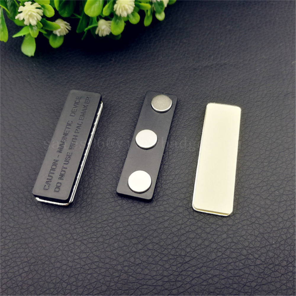 US $7 6 |10pcs 45*13mm Customized strong neodymium magnet security tag  magnet neodymium magnetic name badge magnet rectangle shape cheap-in Badge