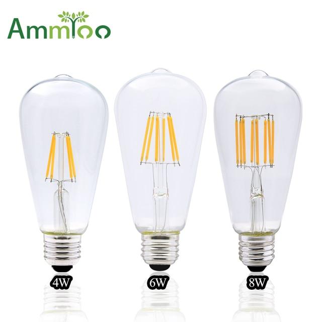 Ammtoo 110v 220v St64 Vintage Led Lampen E27 Retro Led Filament