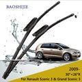 """Lâminas de limpador para renault scenic 3 & grand scenic 3 (a partir de 2009 em diante) 30 """"+ 26"""" R fit baioneta braços do limpador tipo só HY-015"""