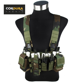 TMC D-Mittsu Tactical Chest Rig Woodland Camouflage Military Combat Vest(SKU050994)