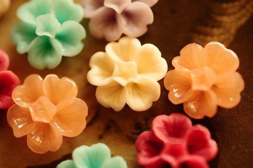 14mm resin cabochon beads flowers for jewelry/mobilephone decoration DIY Handmade Accessories 14 colors 100pcs/lot