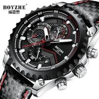 New Men Automatic Mechanical Watch Mens Sports BOYZHE Luxury Waterproof Luminous Stainless Steel Watches Relogio Masculino