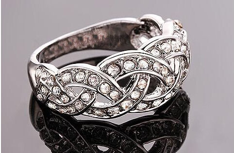 brand promise rings bridal factory wholesales top quality white hot popular crystal rinestones twist for women girl couple
