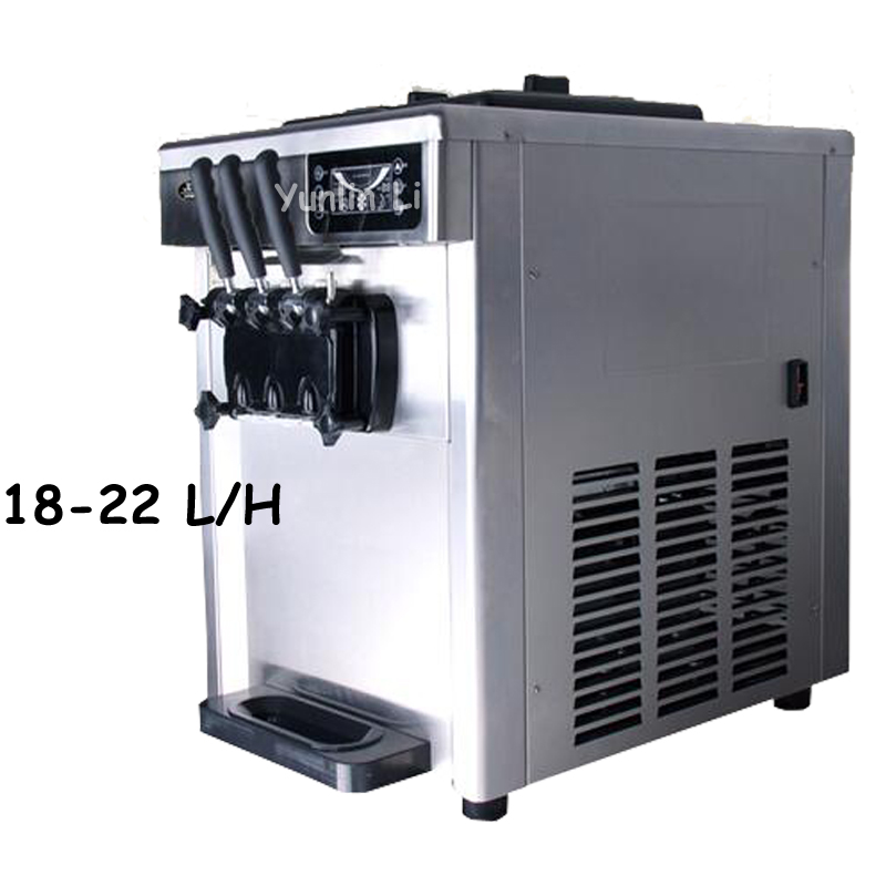 Commercial Soft Ice Cream Machine 220V Automatic Desktop Ice Cream Maker 2300W Steel Ice Cream Cone Making Machine CQ-8219 commercial automatic ice maker household electric bullet round ice making machine 15kg 24h family small bar coffee teamilk shop