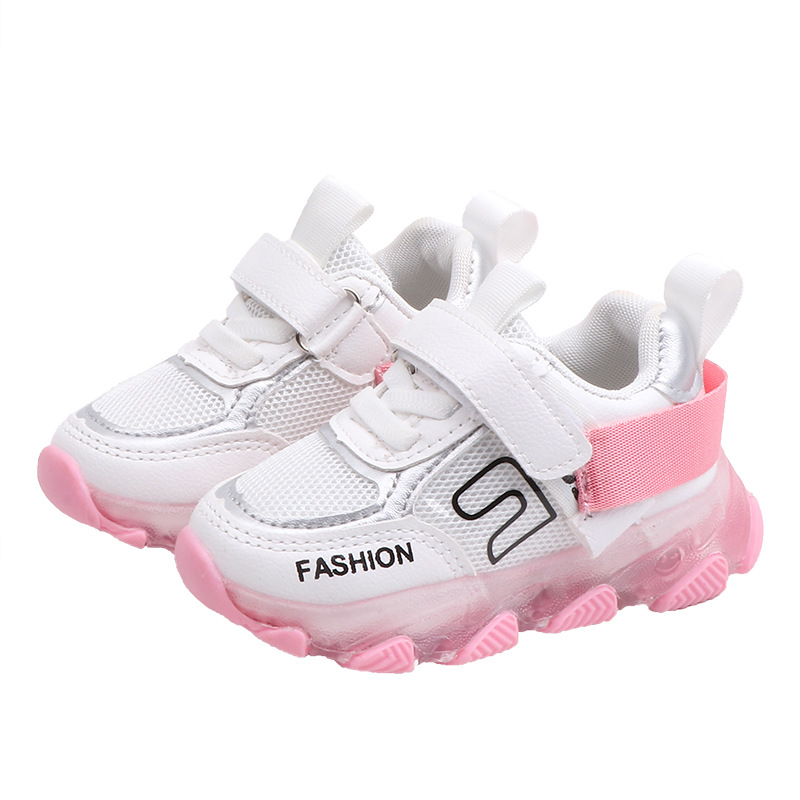 fashion luminous shoes for boys girls air mesh toddler children sneakers casual lighted shoes for running tennis basket femme