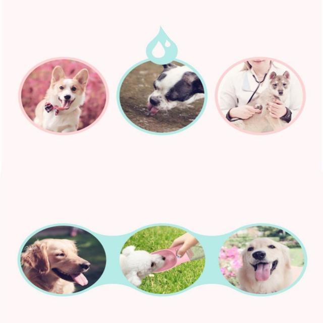 350ml Portable Pet Dog Water Bottle Travel Dog Bowl Cups: 350ML/550ML PORTABLE PET WATER BOTTLE