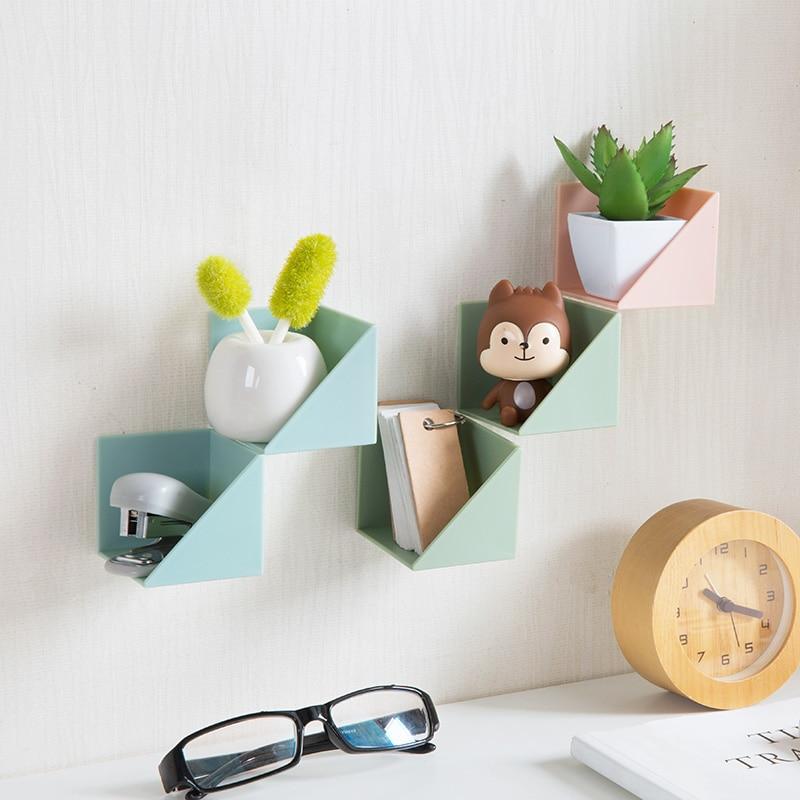 2 Sets Nordic Style Wall Hanging Decorative Storage Rack Bathroom ...