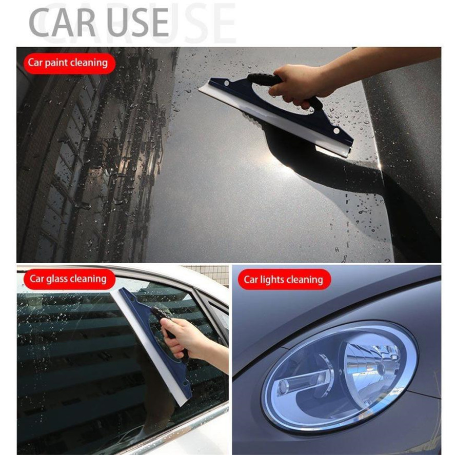 Mini Car squeegee for Mirrors and Lights Home window Car Glass Silicone Wiper