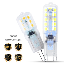 Dimmable G4 LED Bulb G9 Ampoule 3W 220V Lamp 5W Corn g9 Chandelier Candle Light Replace Halogen Home Lighting