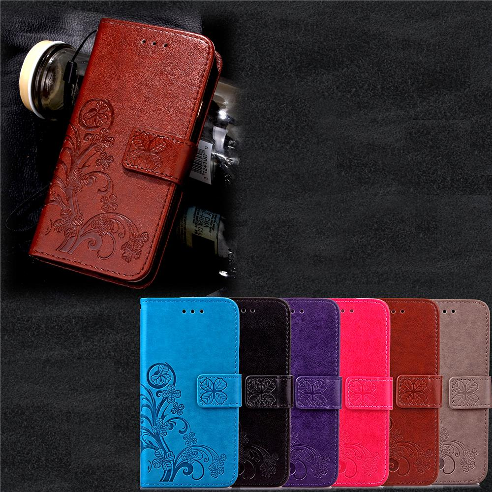 Funda Clover Book Style Wallet Case For Samsung Galaxy S5 S6 S7 Edge Note 4 5 J1 J5 A3 A5 2016 Accessoires Telefonos Mobile Case