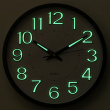 12/14inch Brief Fashion Needle Digital Wall Clock Bedroom Mute Quartz Noctilucent Clock Metal Shell Home Decor for Family Gifts