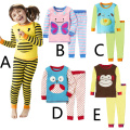 Fashion Children Sets All For Children Clothing And Accessories Top+Pants Funny Cartoon Animal Home Wear Pajamas For Little Kids