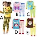 Moda Infantil Define Tudo Para As Crianças Roupas E Acessórios Top + Calças Animal Engraçado Dos Desenhos Animados Home Wear Pijamas Para Pouco crianças