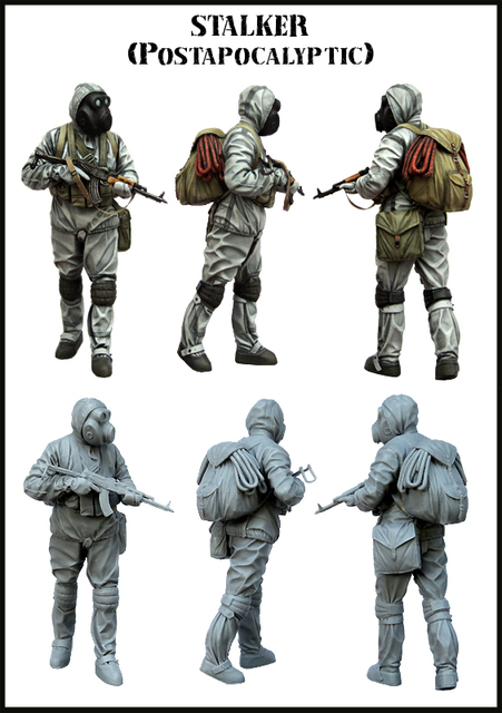 Free Shipping 1/35 Scale Unpainted Resin Figure World War II stalker collection figure