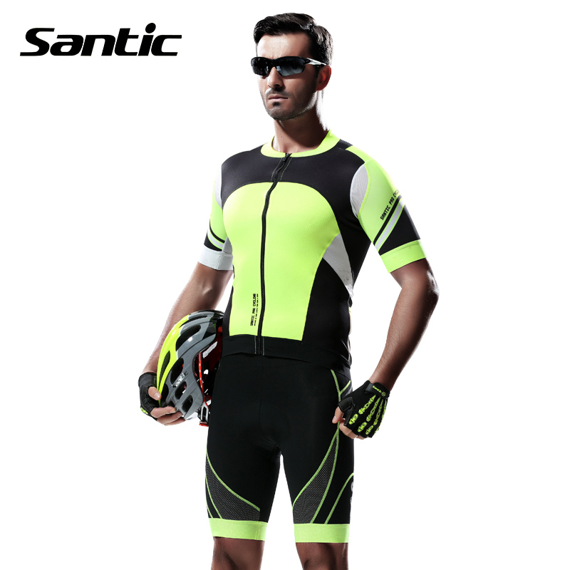 Santic PRO Cycling Jerseys Kits Sets Cycle Cycling Clothing MTB Road Bike Shirt Tops Pro Padded Bicycle Shorts Ropa Ciclismo Men santic 2017 men cycling jerseys summer short sleeve mtb breathable downhill dh bike clothes road bicycle clothing ropa ciclismo