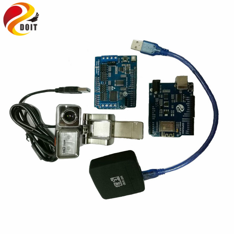 DOIT Video Controller Kit for Robot Arm Tank/Car Chassis Remote Control Kit by ESPduino with openwrt Router Camera wifi mini rc camera tank car ispy with video 0 3mp camera 777 270 remote control robot with 4ch suppots by iphone android app