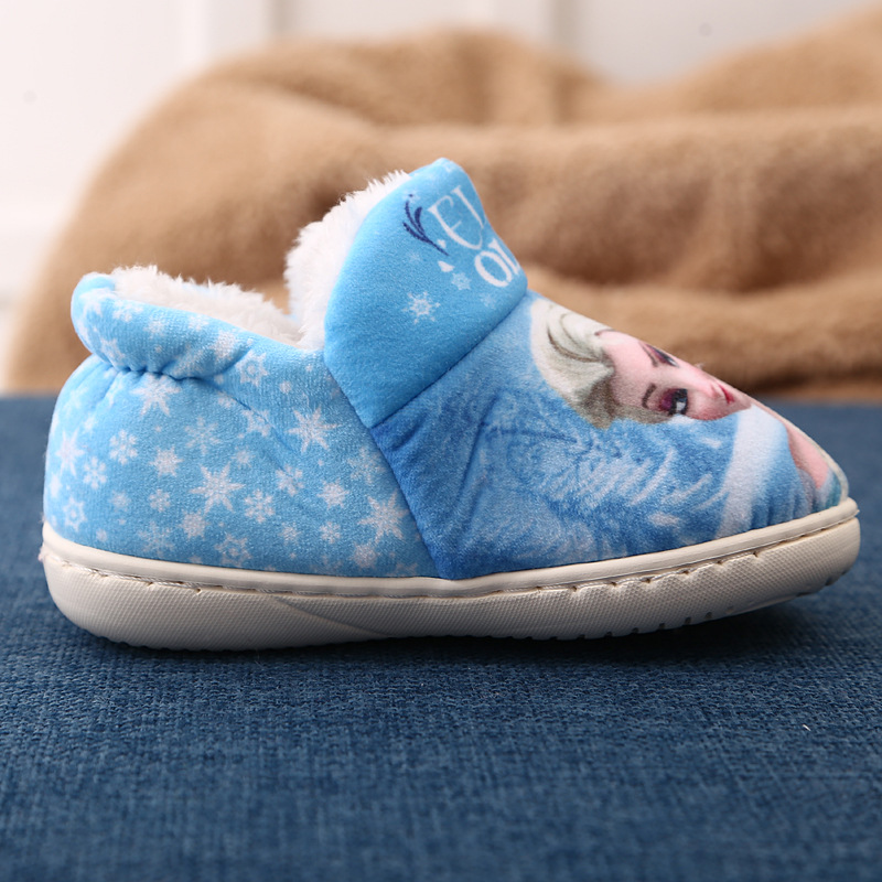 e2f79b152fd Children S Home Slippers warm Winter Shoes Elsa Kids Baby ice snow queen  Indoor boots for girl Velvet Soft Bottom Shoes on Aliexpress.com