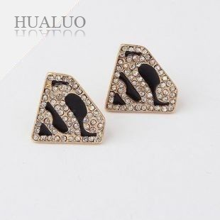 Fashion Jewelry Gold Rhinestones Heart Drop Earrings for Women Wolrdsale E230