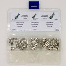 2.8mm 4.8mm 6.3mm Feminino Spade Terminais de Cravar Conectores Isolante Manga Kit