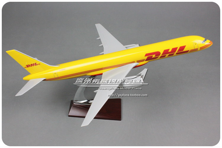 47cm Resin B757 DHL Airlines Model Boeing 757 Airplane Airways DHL Shipping Cargo Static Airbus Model Aircraft Collection Toys 47cm shunfeng white boeing 757 resin sf express airlines airplane model b757 cargo airbus logistics airways aircraft plane model