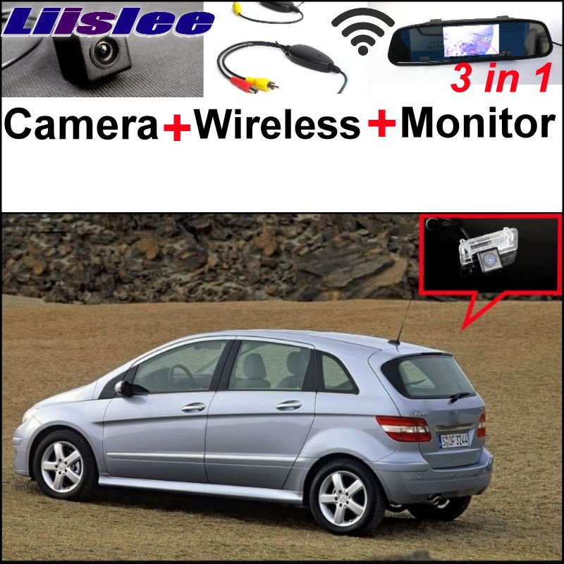 Liislee 3in1 Special Camera + Wireless Receiver + Mirror Screen Parking System For <font><b>Mercedes</b></font> Benz MB <font><b>B150</b></font> B160 B170 B180 B200 image