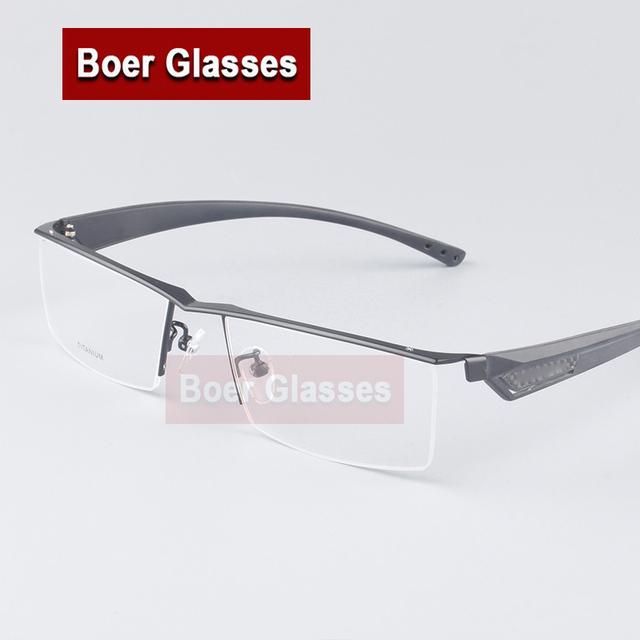 Titanium titanium enmarcan gafas masculinas miopía marco de anteojos marco de los vidrios grandes cara mb4001