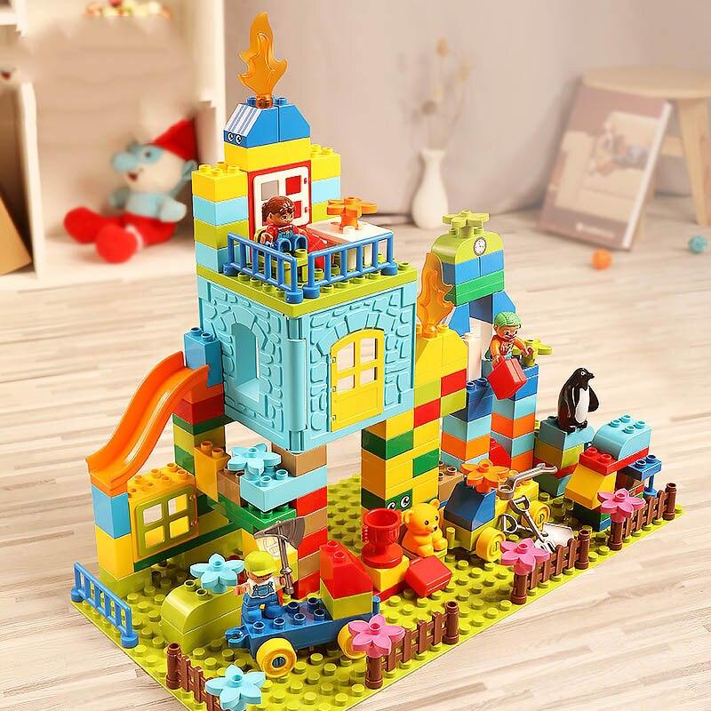 Blocs de construction marbre course course Jungle aventure Track160 pcs blocs Compatible Legoed Duploed grande taille labyrinthe balle briques jouet