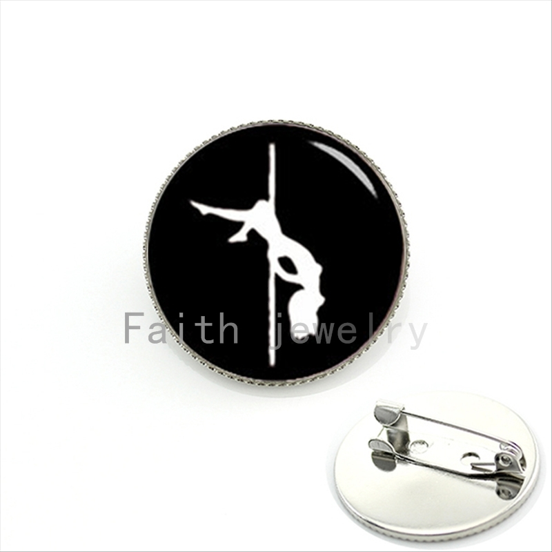Fashionable stylish pole dance bijoux brooch jewelry sex girls stripper yoga pins party wedding women gift KC489 ...