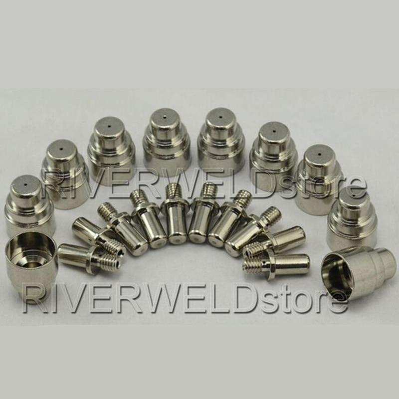 744 0010 Plasma Tips Nozzles  amp  744 0014 Electrodes HF fit BINZEL PSB30 Torch 20pcs