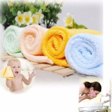 HearTogether 4pcs/Lot Baby Washcloths Wipes Ultra Soft Baby Shower Gift Natural Organic Bamboo Face Towel(China)