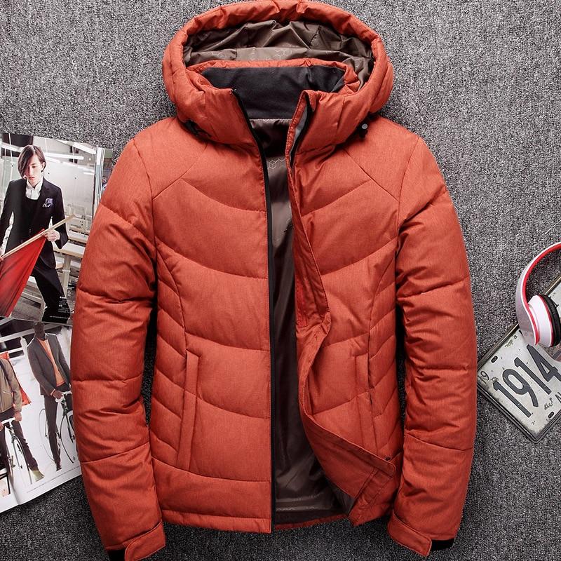 Зимнее пальто Для мужчин Пуховики и парки для мужчин короткие Дизайн мужской утолщение тонкий верхняя одежда с капюшоном с крышкой