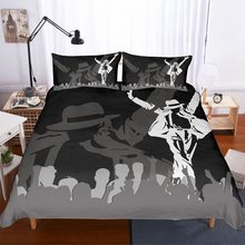 Michael Jackson Bedding Set Space Walk Dancing Duvet Cover Set Black Bed Linen Set with Pillowcase 3 Piece Bedclothes Home Decor(China)