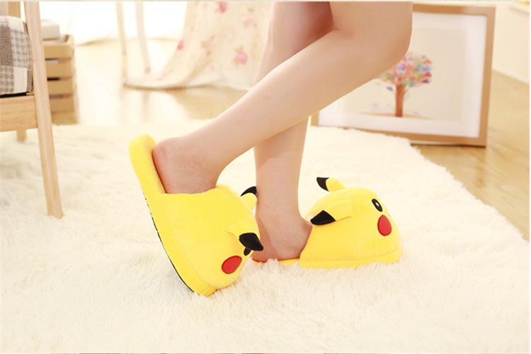 Costumes & Accessories Huolun New Winter Home Cotton Warm Plush Slippers Cute Cartoon Pokemon Pocket Monster For Pikachu Lovers Shoes
