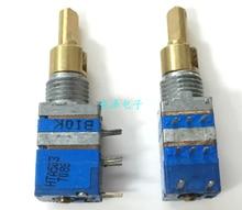 Interruptor de potenciômetro de comutação de banda dupla, eixo duplo, a50k b10k, dois eixos de resistência de 17mm, rádio dual-tom interruptor de potenciômetro