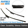 "Wiper blades for Renault Scenic 3 ( 2009 onwards ), 30""+26""R fit bayonet type wiper arms only HY-015"
