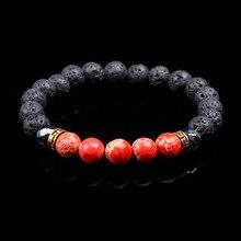 SA SILVERAGE New Bracelet Natural Stone Jade Beads Purple Crystal Bracelets Energy Yoga Wristband Men Women