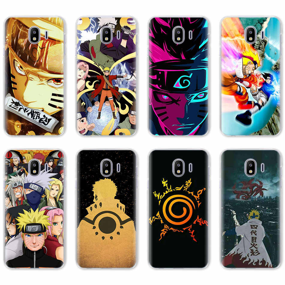 Naruto Kakashi สำหรับ Samsung Galaxy J4 J6 Plus J3 J7 J8 2018 C2 Core J5 J7 Prime hard PC Coque