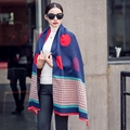 Fashion Cashmere Scarf women pashmina Long Casual Warm winter blanket scarf luxury brand designer scarves ponchos and capes