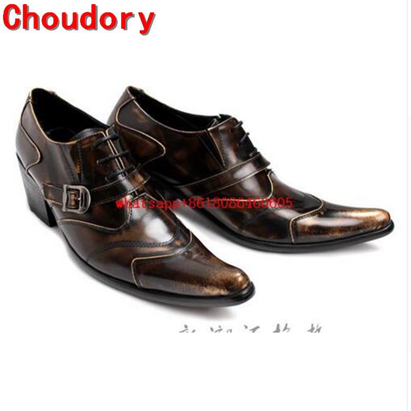 Choudory Luxury Brand Lace-Up Men Shoes Breathable Pointed Toe Men Shoes Casual Autumn Grain Leather Solid Business Dress ShoesChoudory Luxury Brand Lace-Up Men Shoes Breathable Pointed Toe Men Shoes Casual Autumn Grain Leather Solid Business Dress Shoes