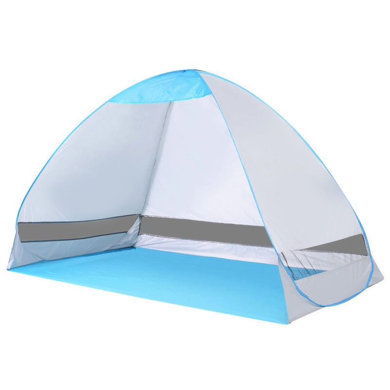 Pop Up Tent Portable Shelter Anti UV Folding Opaque Silver Tape Tent Outdoor Furniture Fishing Shelter