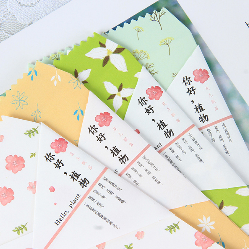 Купить с кэшбэком 5pcs/lot Hello plants envelope writing paper stationery birthday christmas card envelopes gift Office stationery Supplies