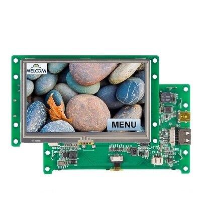 """Каменный 4,3 """"Умный модуль TFT lcd с портом RS232"""