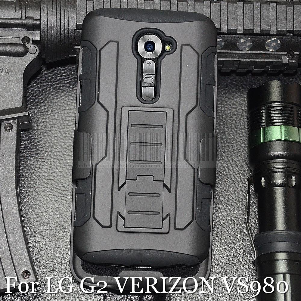 Protective Armor Impact Hard Case Rugged Cover Holster With Belt Clip For LG Optimus G2 D801 D802 LS980/G2 VERIZON VS980
