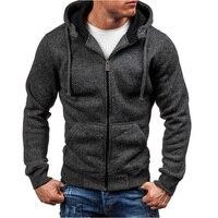 Hoodies Men 2018 Sudaderas Hombre Hip Hop Mens Brand Solid Zipper Hoodie Sweatshirt Slim Fit Men