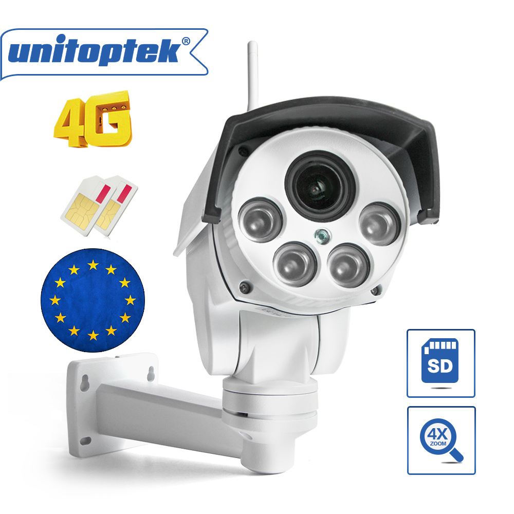 1080 P 2MP PTZ IP Caméra Extérieure 5X/10X zoom optique 3G 4G SIM Carte Wifi Caméra CCTV p2P CamHi Max 128G Micro SD carte de stockage
