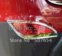 Darmowa dostawa! Wyższa gwiazda ABS Chrome 2 sztuk tylne światło przeciwmgielne pokrywa/światło przeciwmgielne tapicerka dla 2009 2012 Hyundai Tucson (IX35) w Chromowane wykończenia od Samochody i motocykle na