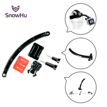 New Helmet Front Shooting Arm+Mounts+Screws+Adhesive Pads Stands for GoPro Hero 4 3+ 3 2 sj4000 sj6000 Camera Accessories GP79 qqt 50 pcs for gopro hero 5 4 3 3 2 sj4000 red 3 m vhb adhesive sticker 25 curve 25 flat double adhesive tape mounting helmet